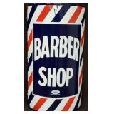 14X24 PORC. BARBER SHOP CURVED SIGN