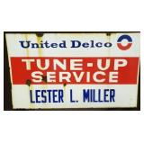 28X48 PORC. UNITED DELCO TUNE UP SERVICE SIGN