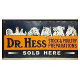 24X50 DR. HESS STOCK & POULTRY SIGN W/ LIVESTOCK