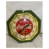 18N COCA COLA NEON 8 SIDED CLOCK