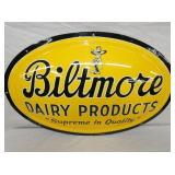 VIEW 2 CLOSEUP NOS BILTMORE DAIRY PRODUCTS SIGN