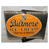12X17 RARE NOS BILTMORE ICE CREAM SPINNER SIGN