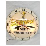 15IN BILTMORE DAIRY PRODUCTS DOUBLE BUBBLE CLOCK