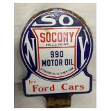 VIEW 2 OTHERSIDE SOCONY MOTOR OIL PUMP SIGN