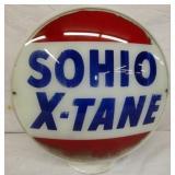 SOHIO X-TANE MILKGLASS GLOBE