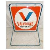 29X31 OLD STOCK VALVOLINE SIDEWALK SIGN