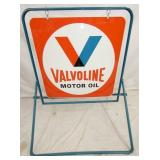VIEW 2 OTHERSIDE VALVOLINE SIDEWALK SIGN