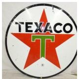 6FT. PORC. TEXACO SIGN