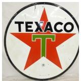 VIEW 2 OTHERSIDE PORC. 6FT. TEXACO SIGN