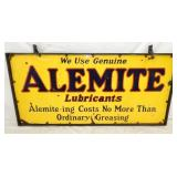 29X60 PORC. ALEMITE LUBRICANTS SIGN