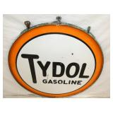 VIEW 3 CLOSEUP TYDOL GASOLINE PORC. SIGN