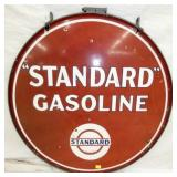 36IN PORC. STANDARD GASOLINE SIGN W/ FRAME