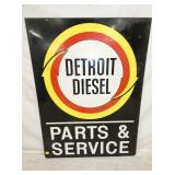 36X48 DETROIT DIESEL DEALER SERVICE SIGN