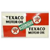 VIEW 2 OTHERSIDE OLD STOCK TEXACO MOTOR OIL SIGN