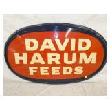 29X47 EMB. DAVID HARUM FEEDS SIGN
