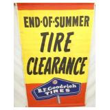 35X56 BF GOODRICH TIRES CLOTH BANNER