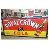 41X95 EMB. ROYAL CROWN COLA SIGN
