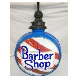 UNUSUAL BARBER SHOP GLOBE LIGHT