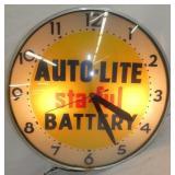 18IN AUTO LITE BATTERY DEALER CLOCK