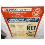 VIEW 2 CLOSEUP AMERICAN MOTORS KEY DISPLAY SIGN