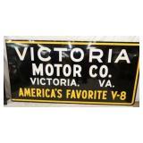 48X96 1958 VICTORIA MOTOR CO. VA SIGN