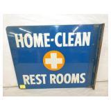 VIEW 2 OTHERSIDE RESTROOMS FLANGE SIGN