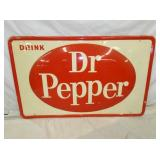 30X46 BUBBLE EMB. DR. PEPPER SIGN - SAT.