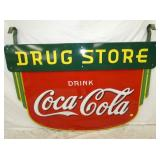 46X63 PORC. DRUGSTORE COKE SIGN
