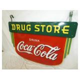 VIEW 4 46X63 PORC. COKE DRUG STORE SIGN