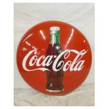 36IN PORC. COKE BUTTON SIGN