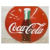 VIEW 2 36IN PORC. COKE BUTTON SIGN