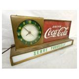 VIEW 2 COKE COUNTER CLOCK/SIGN