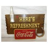 15X17 REFRESHMENT COKE BY KAY DISPLAYS