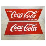 24X68 PORC. COCA COLA SLED SIGNS