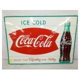 20X27 COKE FISHTAIL SIGN W/ BOTTLE
