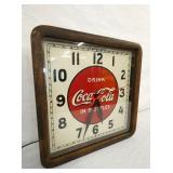 VIEW 2 W/ WOODEN FRAME COKE CLOCK