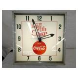UNUSUAL 24IN COKE CLOCK W/ CAP