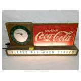 VIEW 2 CLOSEUP LIGHTED COKE COUNTER SIGN