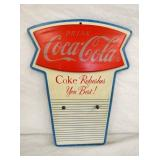 11X16 MASONITE COKE FISHTAIL CALENDAR DISPLAY