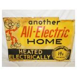 ALL ELE. HOME HEATING SIGN
