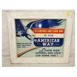23X27 AMERICAN WAY SAVINGS MASONITE SIGN