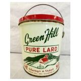 4LBS. GREEN HILL ELLISTON VA LARD TIN