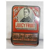EARLY JUICY FRUIT TIN MATCH HOLDER