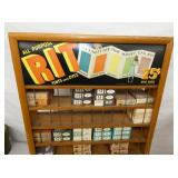 VIEW 2 RIT DYES CABINET W/ PRODUCT