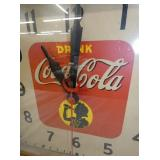 VIEW 2 COCA COLA CLOCK W/ SILOHETTE