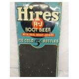 15X29 HIRES ROOT BEER 5CENT MENU SIGN