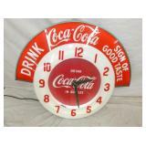 32X36 CLEVELAND COCA COLA CLOCK W/ MARQUEE