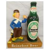 14X18 HEINEKEN LAGER BOTTLE W/ DUTCH BOY DISPLAY