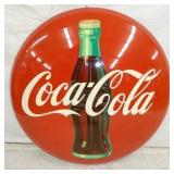 36IN NOS PAINTED COKE BUTTON W/ BOTTLE