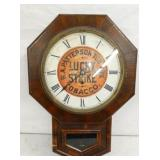 17X24 LUCKY STRIKE TOBACCO WALL CLOCK